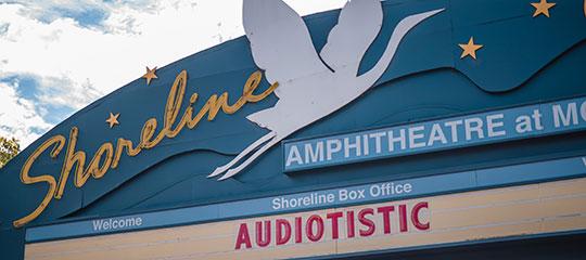 Front of the Shoreline Amphitheatre