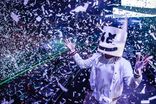 Marshmello performing onstage