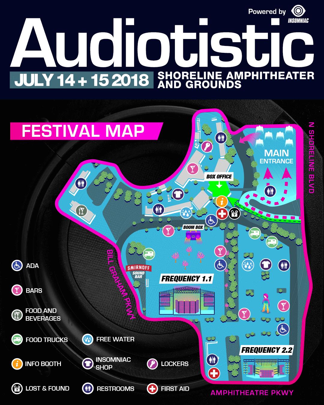 Audiotistic Bay Area Festival Map