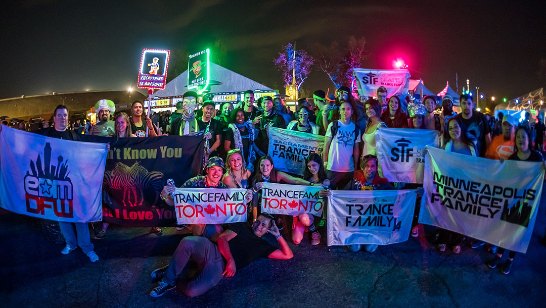 Headliners with trance fam banners