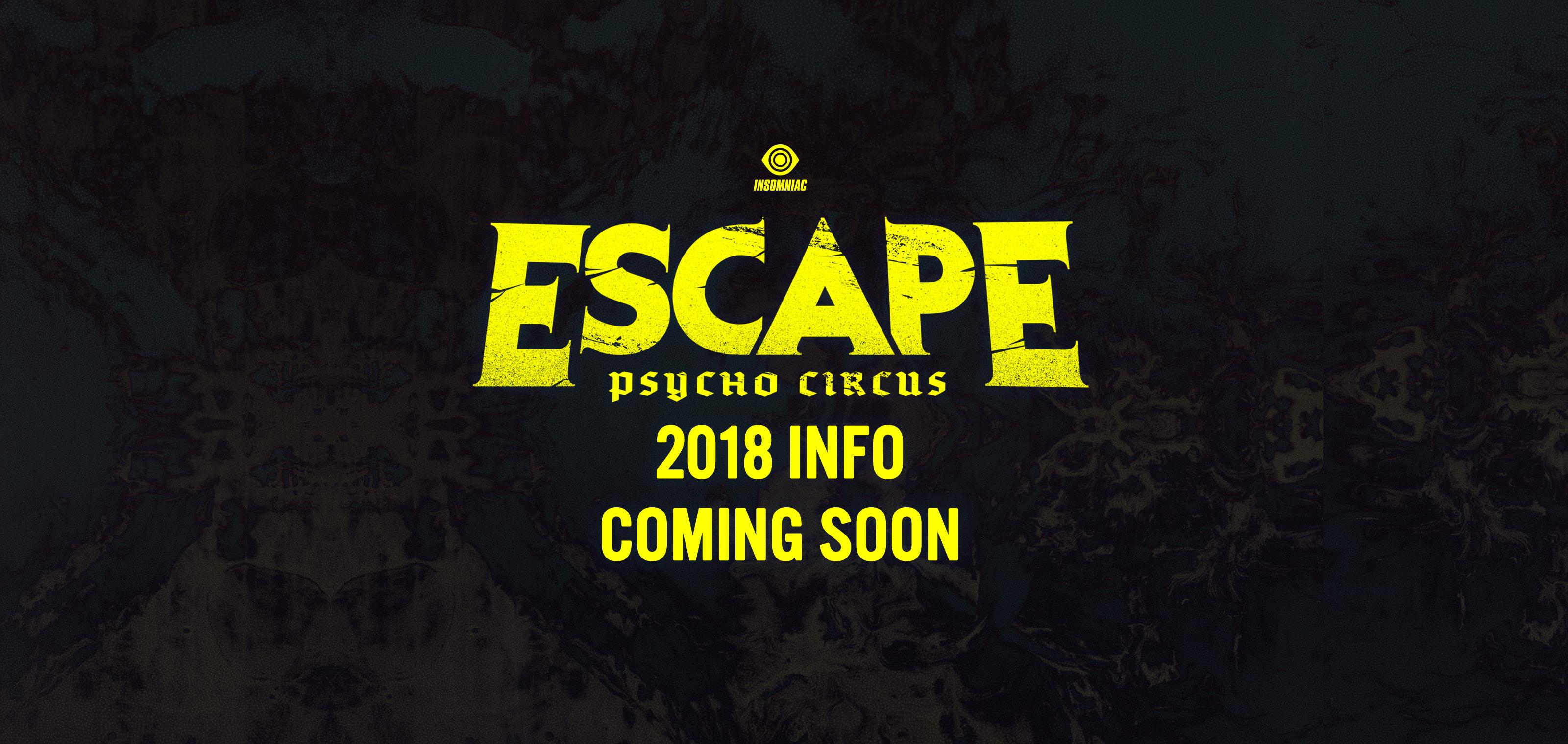 escape psycho circus october 26 27 2018