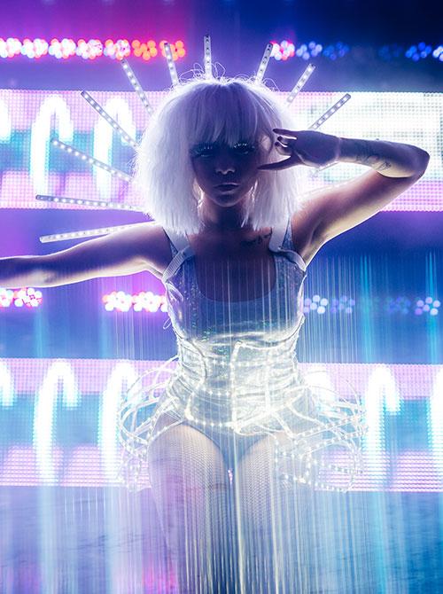Futuristic performer