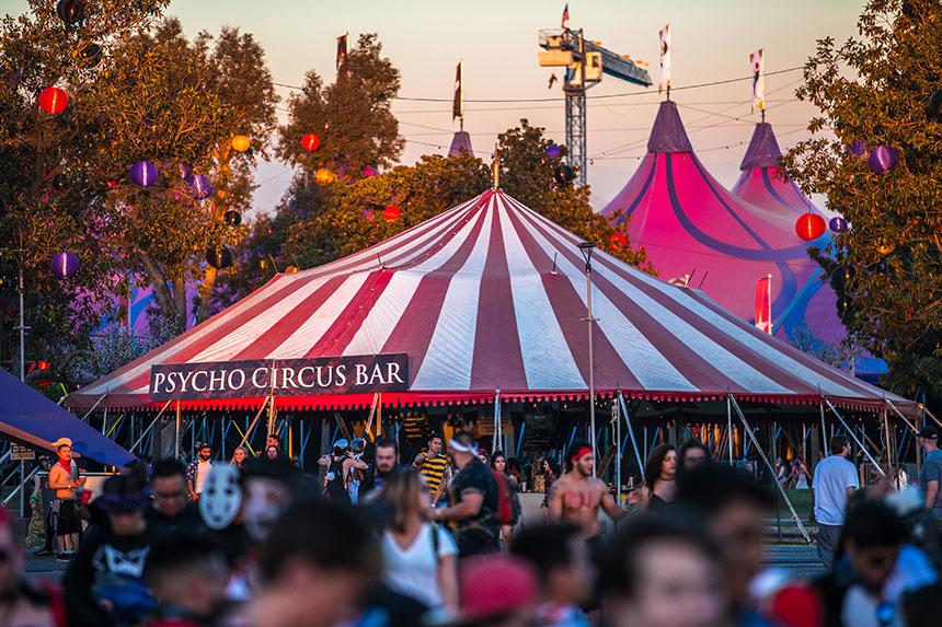 Psycho Circus Bar tent