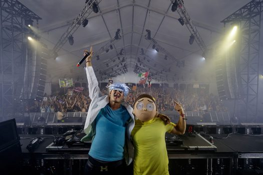 Two DJs in costumes