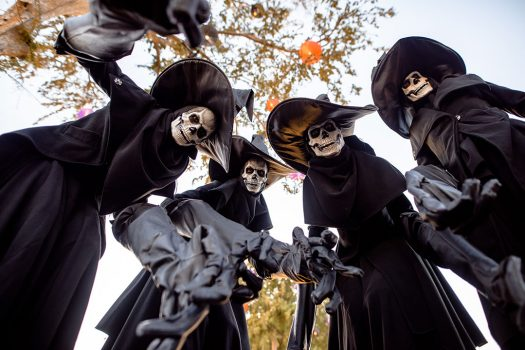 Creepy skeleton witches