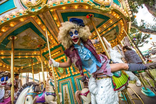 A clown on the carousel