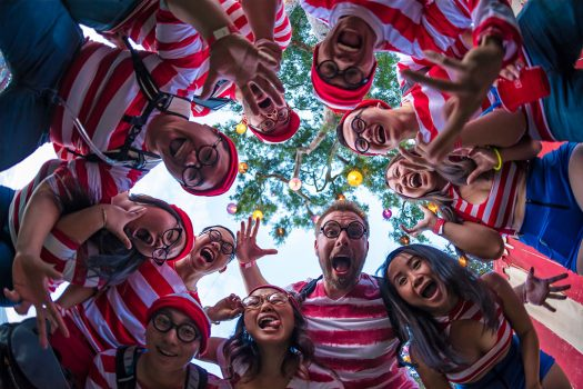 Headliners dressed as Waldo