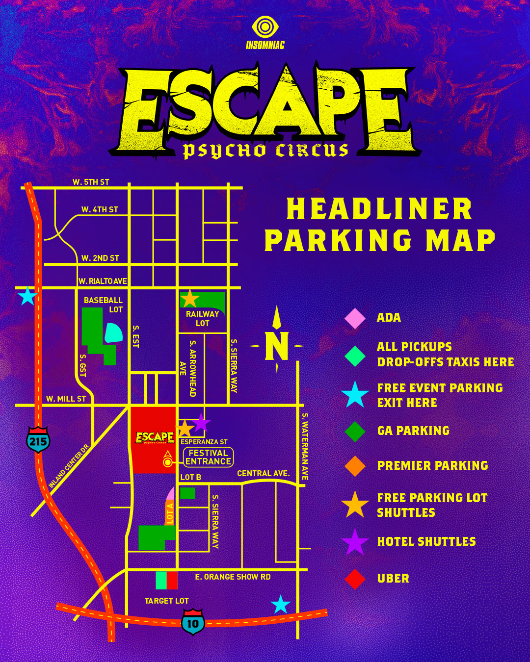 Escape parking map