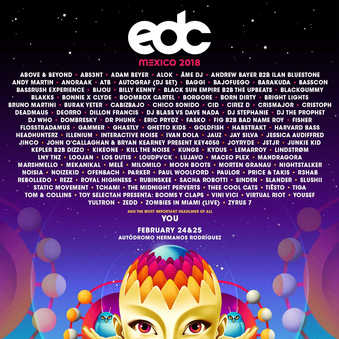 EDC Mexico 2018 lineup