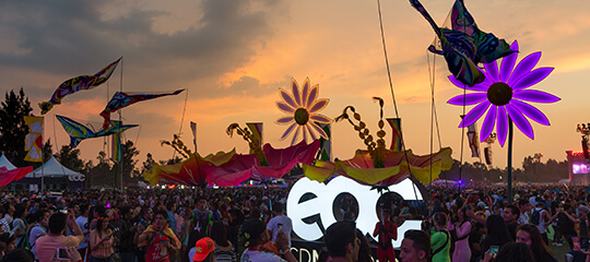 EDC Mexico in the Sunset