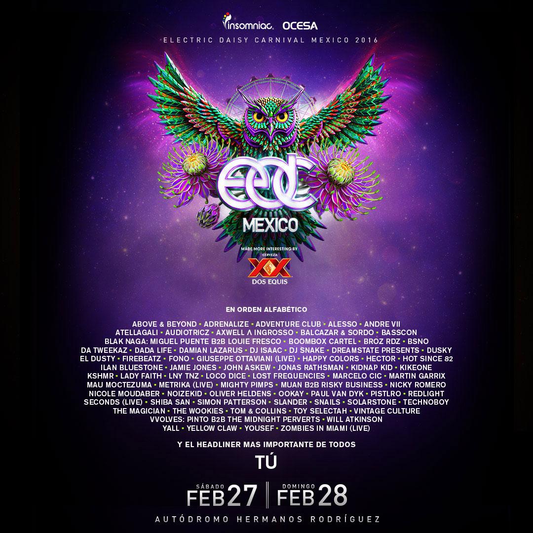 EDC Mexico 2016 lineup