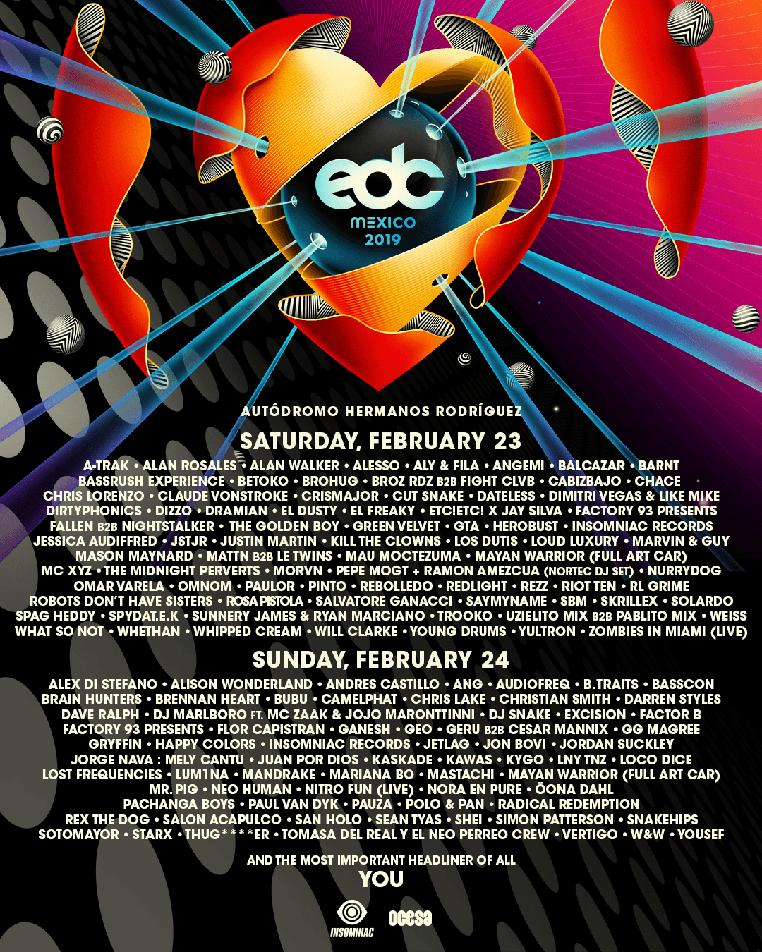 EDC Mexico 2019 artist lineup by day