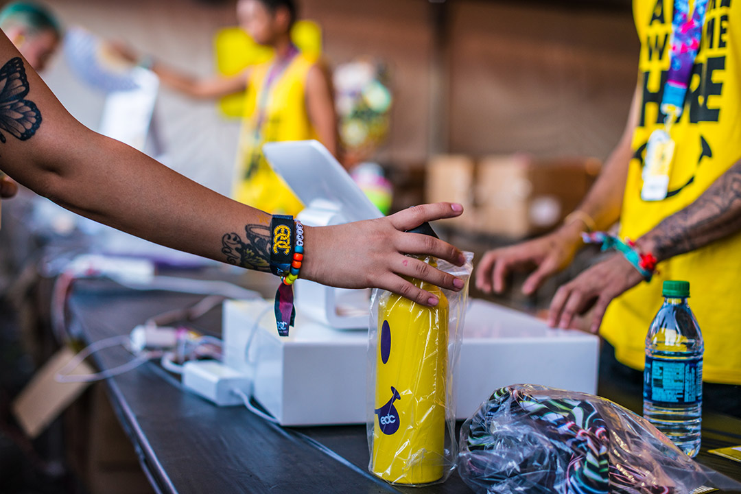 Don't forget to grab a water bottle and some 2018 EDC merch at the Insomniac Shop!