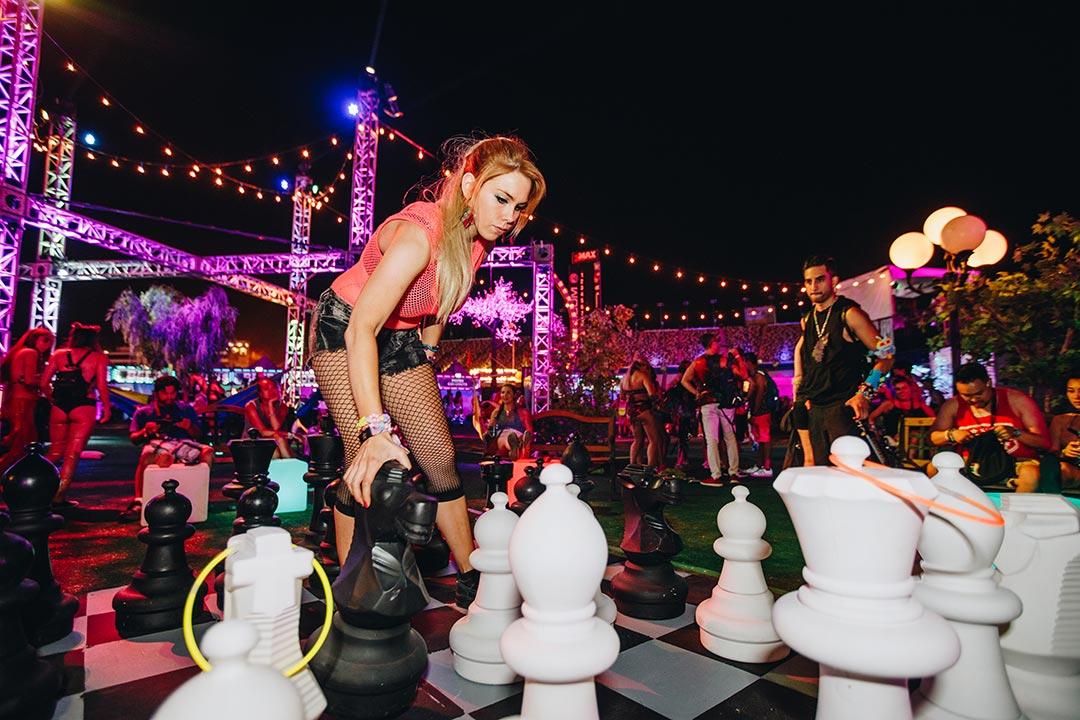 Play a life-size version of chess.