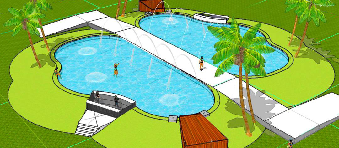 Oasis Pool concept drawing