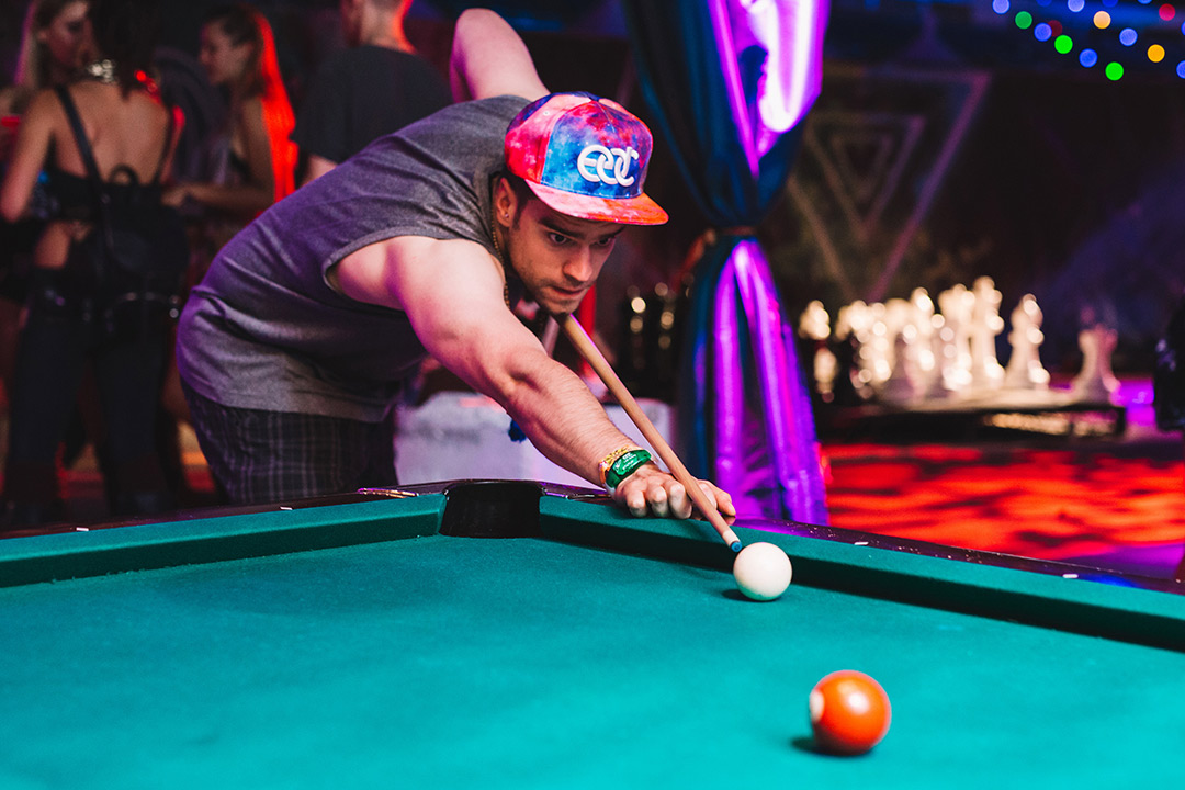 In between catching your favorite sets, why not work on your pool game?