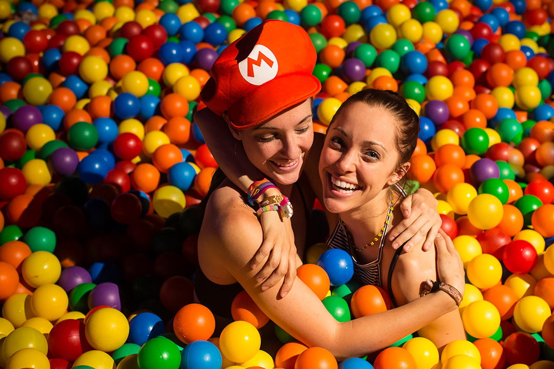 Who doesn't love a ball pit? Jump in on the action!