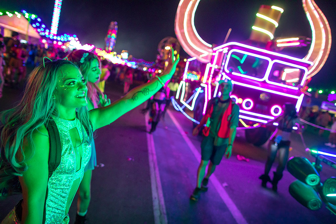 The EDC Parade is a high point of the festival experience.