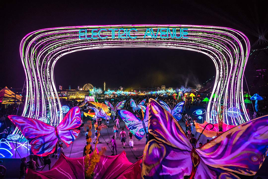 Electric Avenue is the gateway to neonGARDEN and circuitGROUNDS.