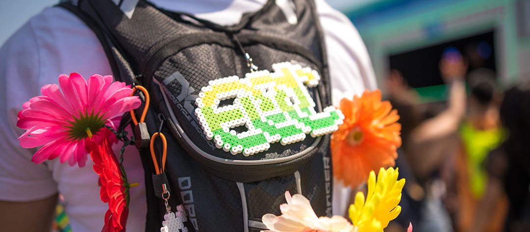 Backpack with an EDC perler