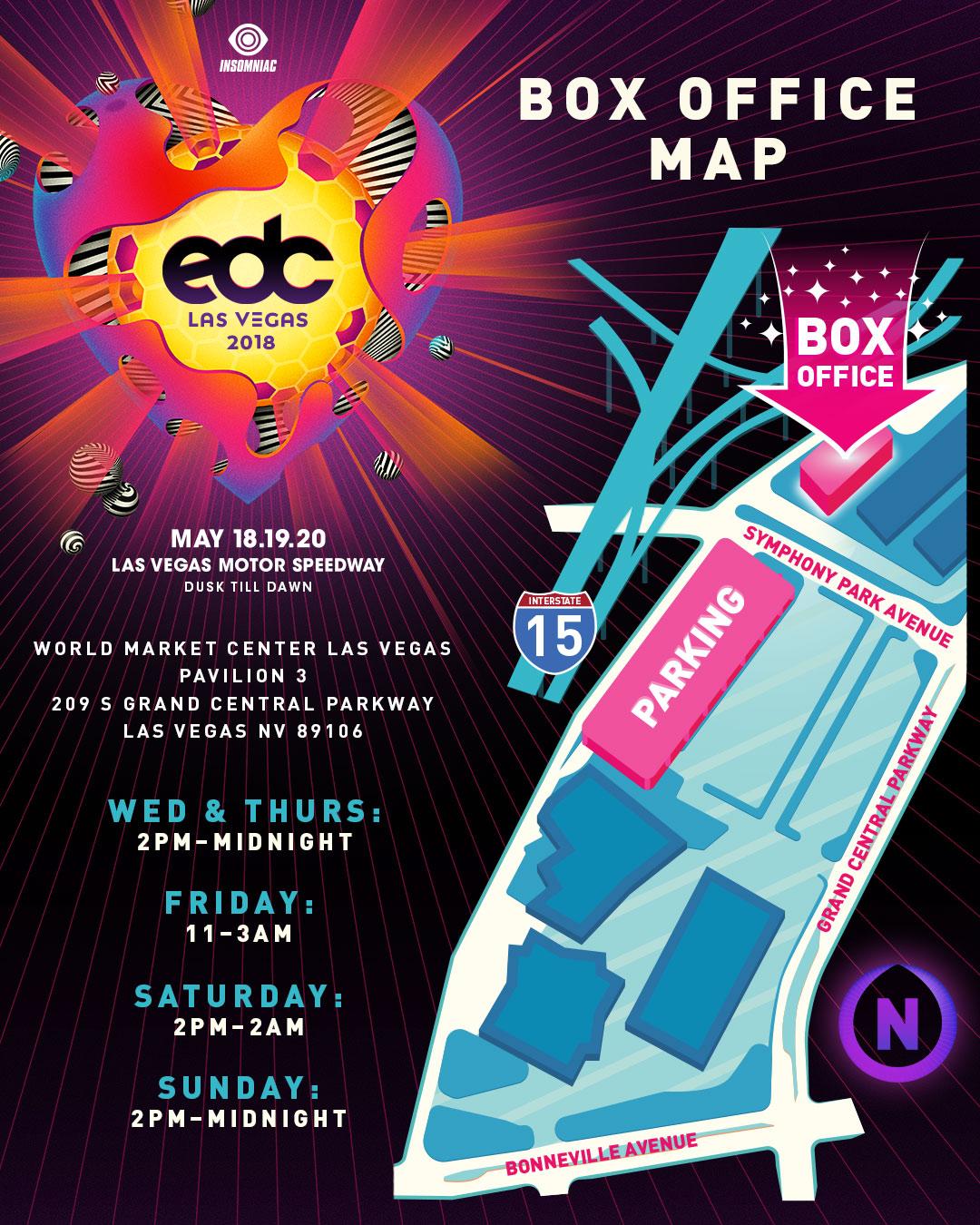 EDC Las Vegas box office map