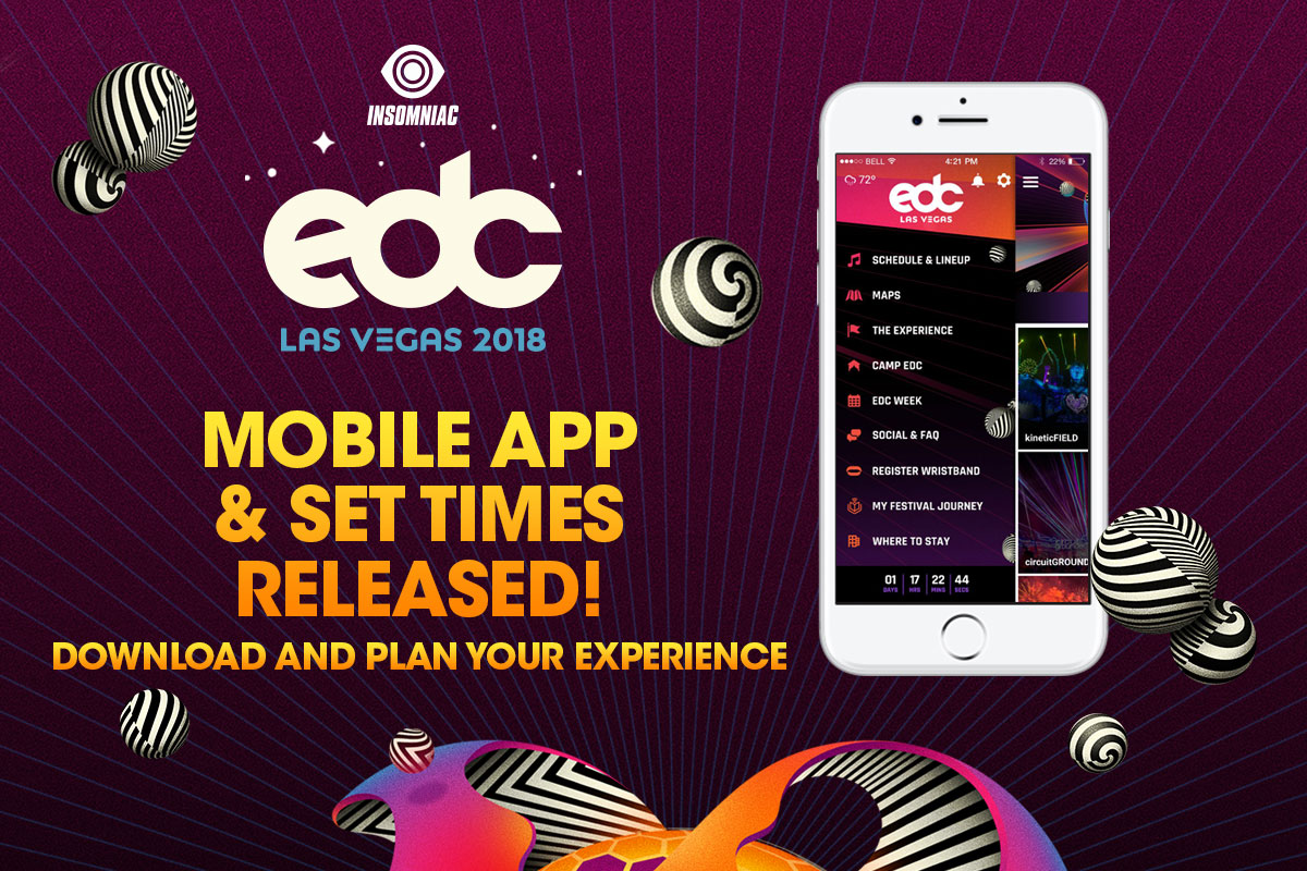 EDC Las Vegas 2018 Mobile App & Set Times Released