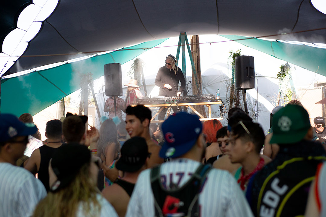 A DJ playing on the Mesa
