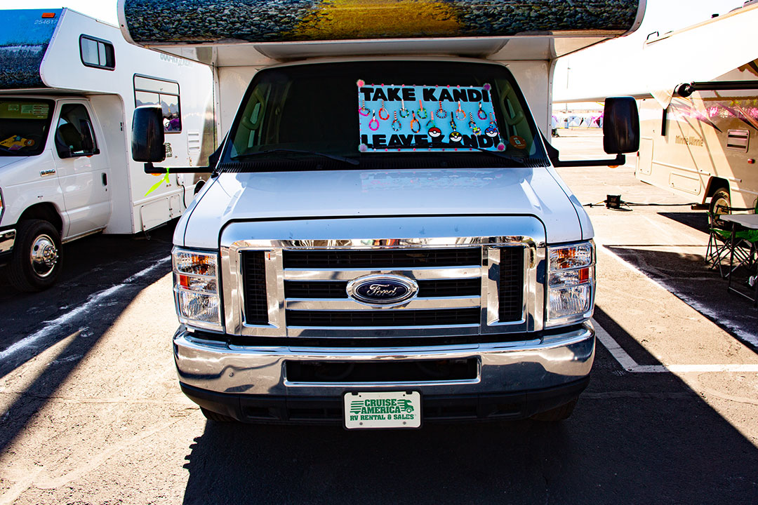 """Take Kandi Leave Kandi"" sign on an RV"
