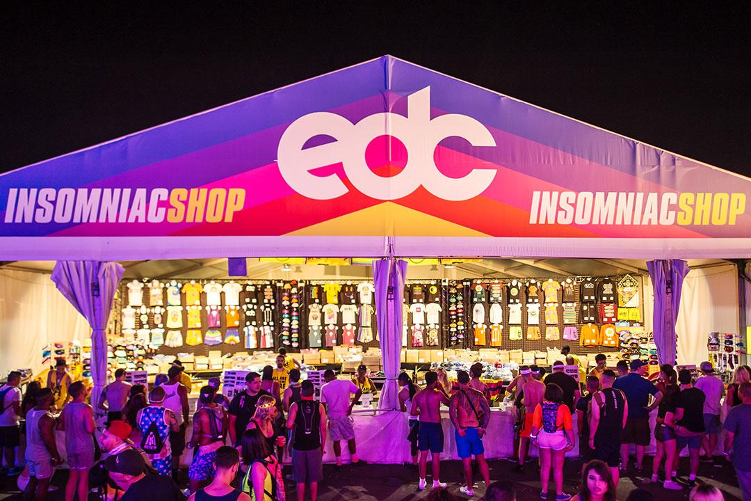 Insomniac EDC merch tent
