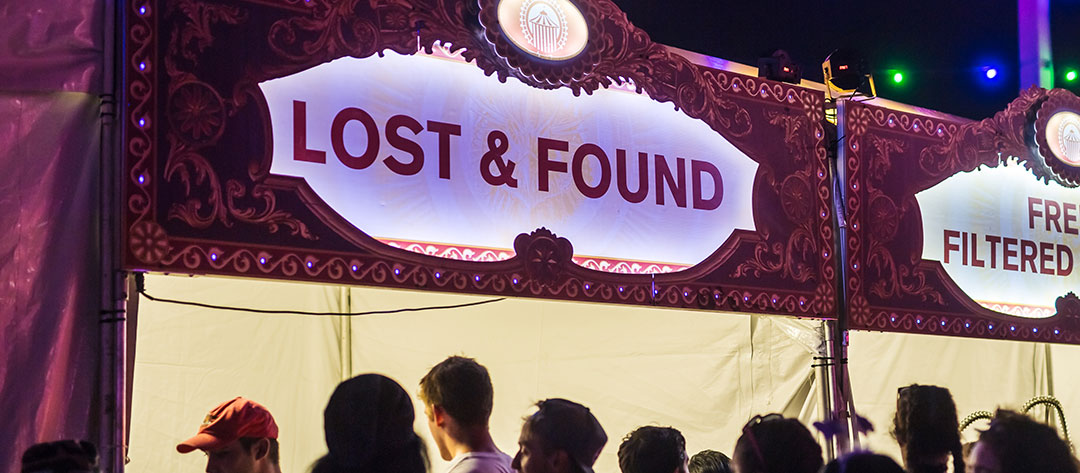 The Lost & Found booth