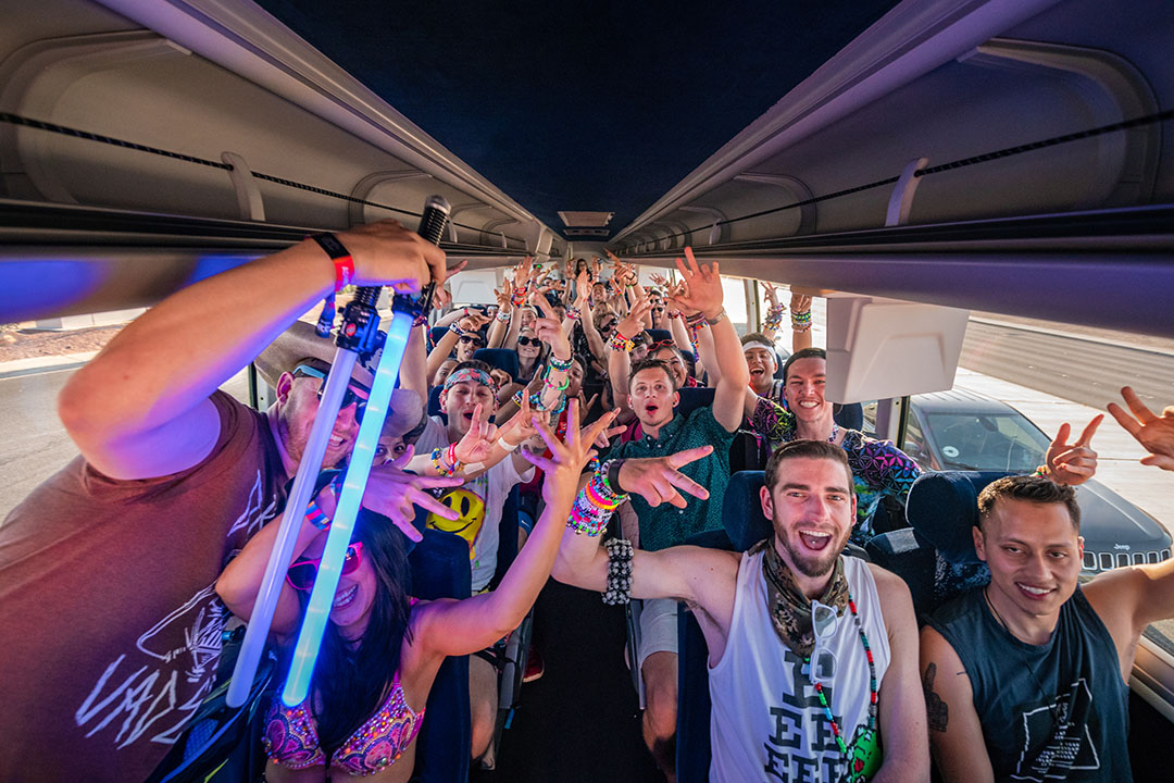 Headliners on shuttle excited to get to EDC