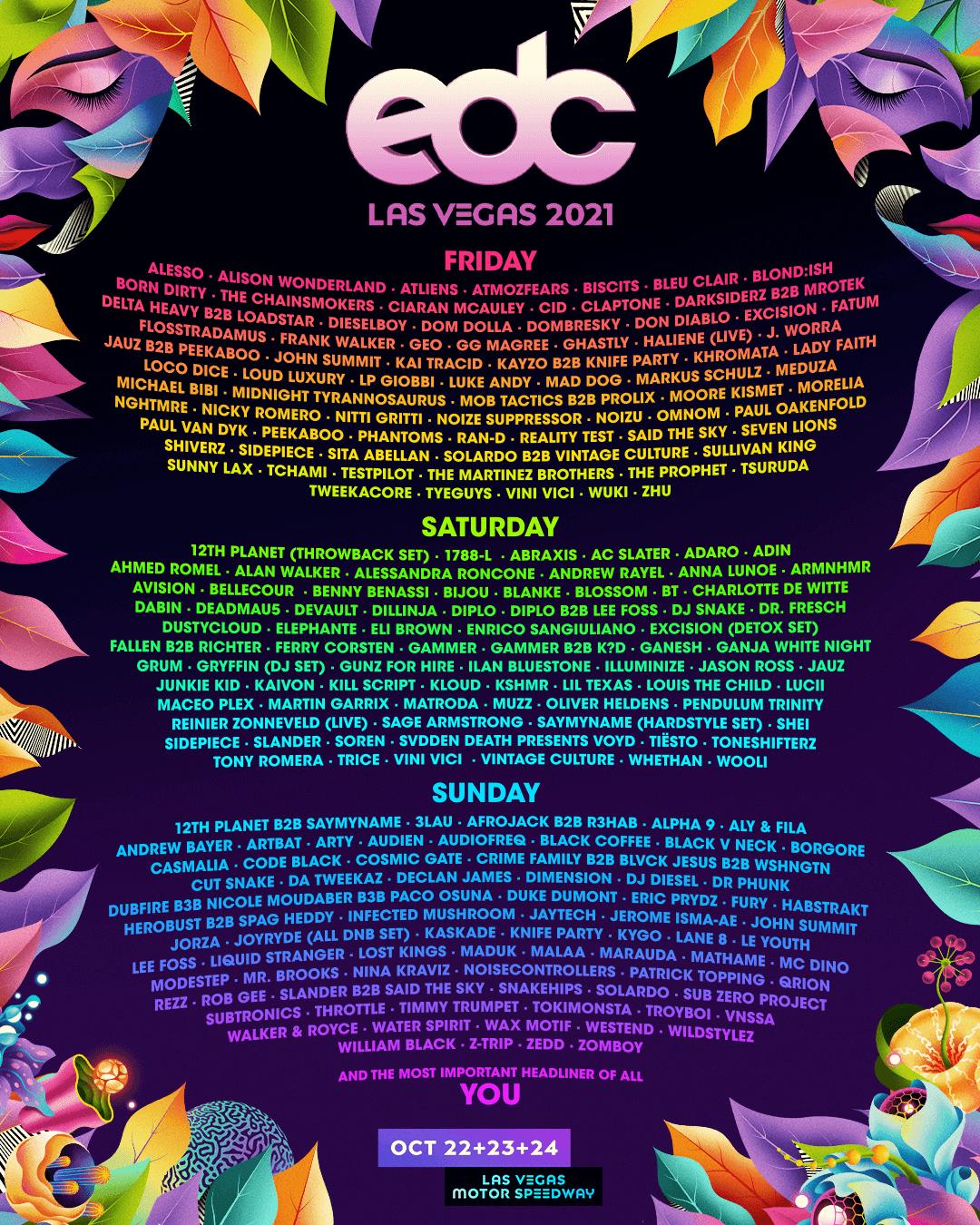 EDC Las Vegas 2021 Lineup!