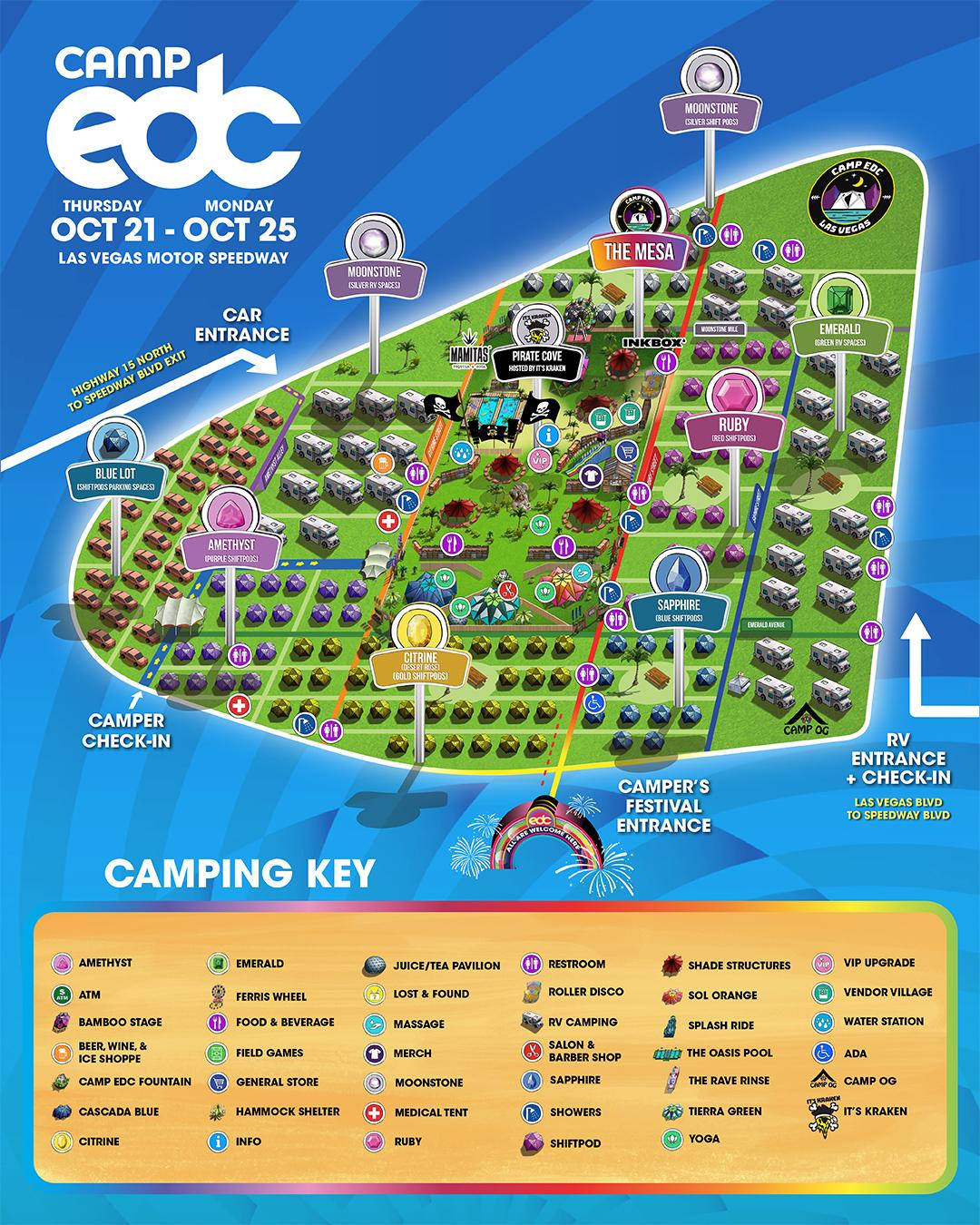 Camp EDC Map