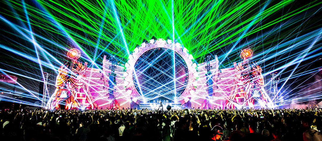 Lasers shooting from kineticFIELD