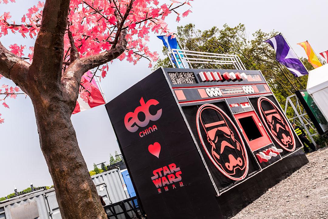 Boombox Art Car with Star Wars logo