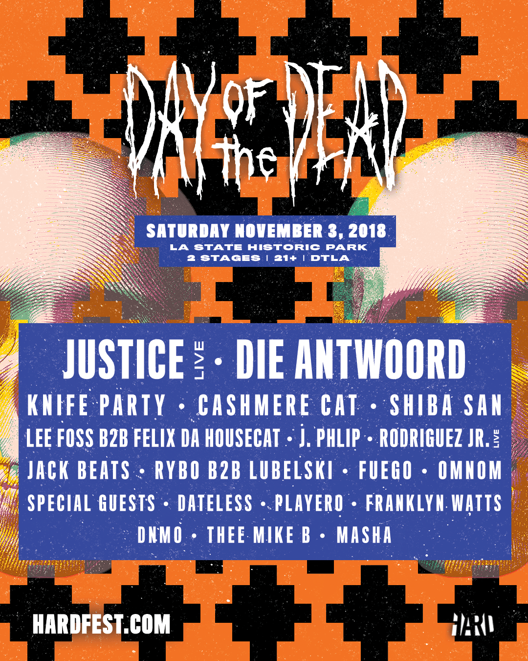 hard_day_of_the_dead_2018_lu_social_asset_1080x1350_r02Final-compressor Justice y Die Antwoord encabezan el renacimiento de HARD Day of the Dead