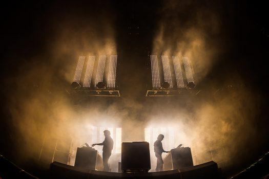 Fog machine on stage