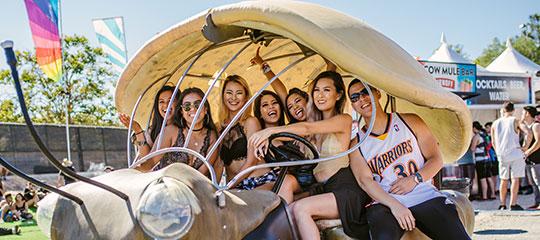 Headliners in an art car