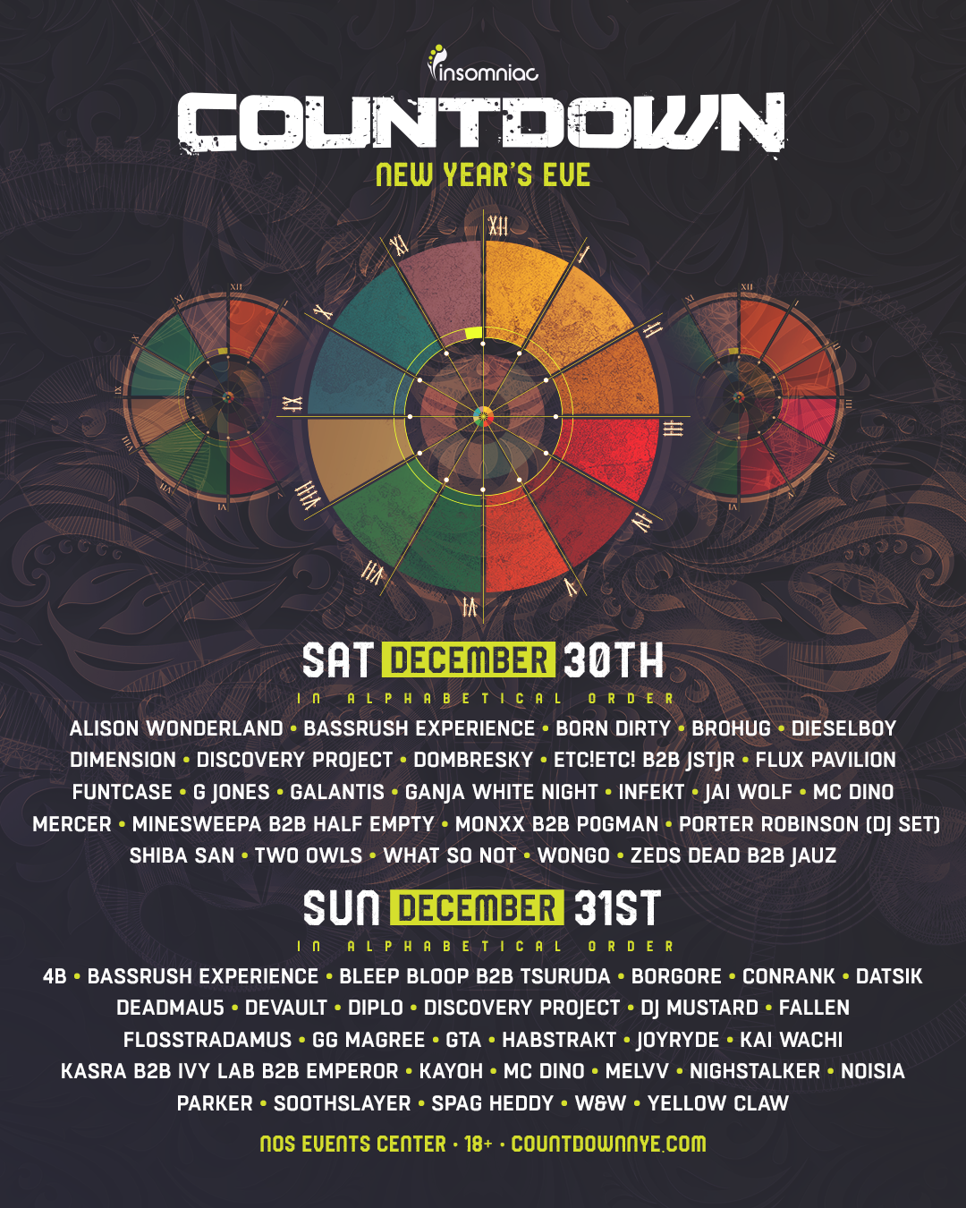 Countdown 2017 lineup