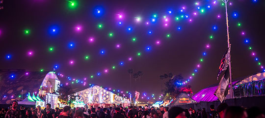 Colorful lights in the sky