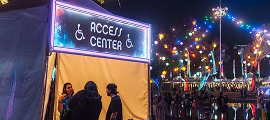 Access Center tent