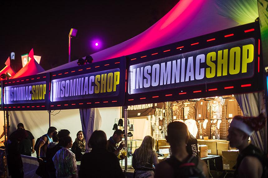 Insomniac Shop tent