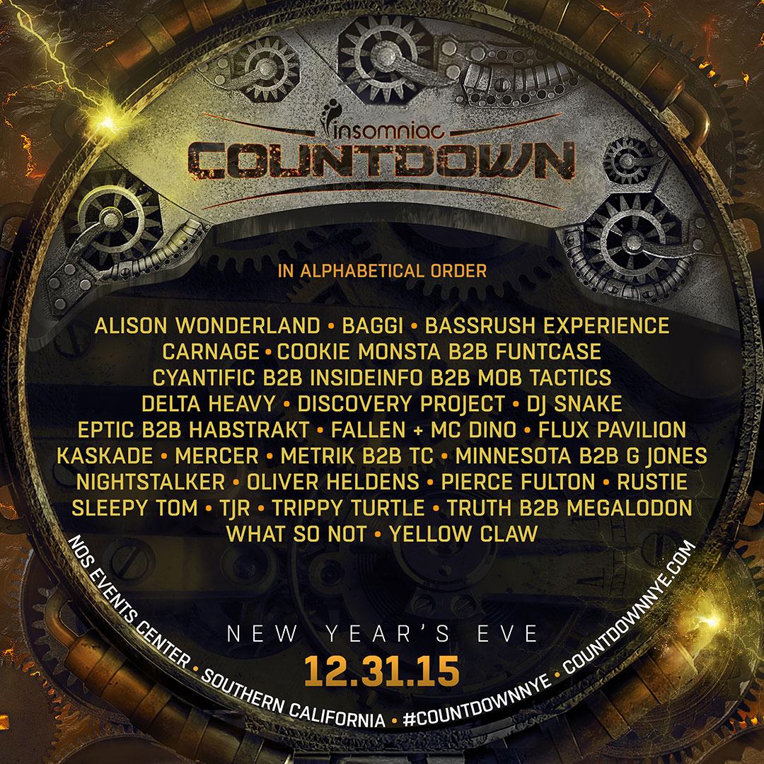 Countdown 2015 lineup