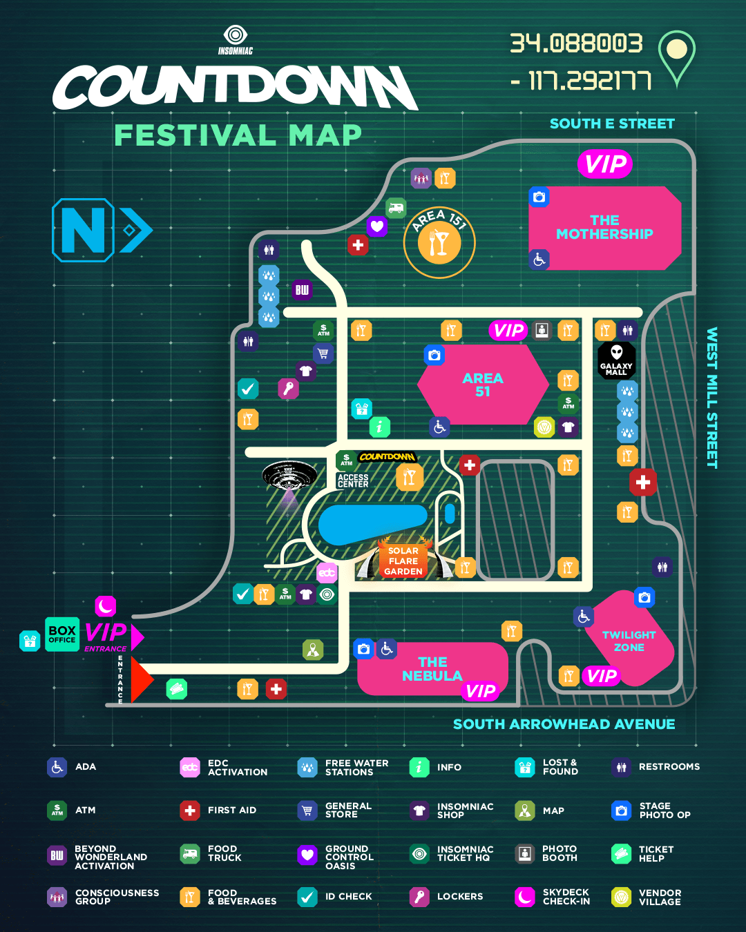 Countdown 2019 festival map