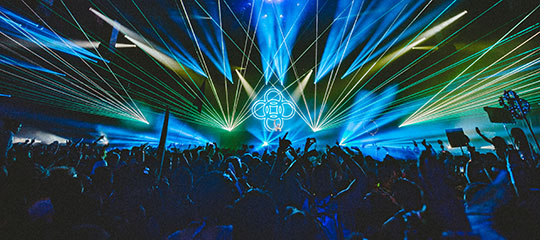 lasers at stage