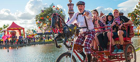Hobby horse pedicab