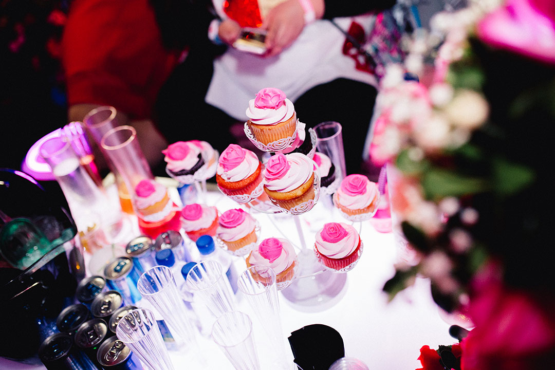 VIP cupcakes on a table