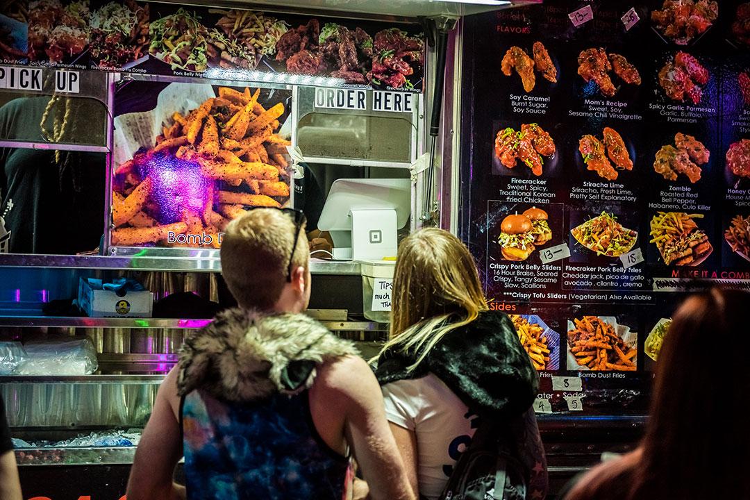 Gourmet food truck in VIP