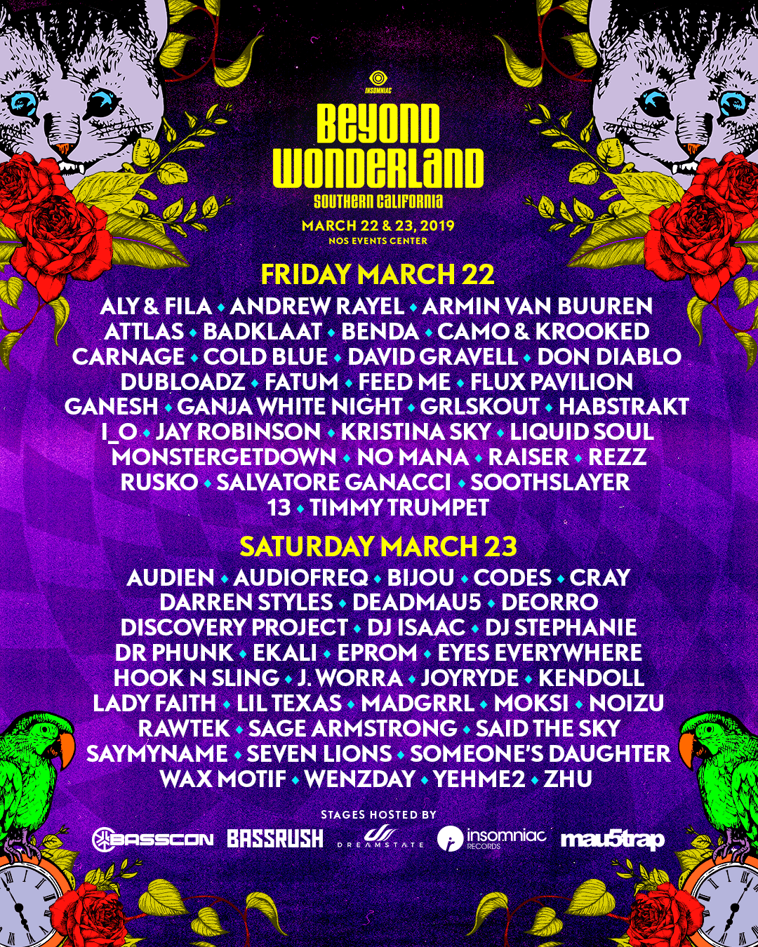 Beyond Wonderland 2019 lineup broken out by day