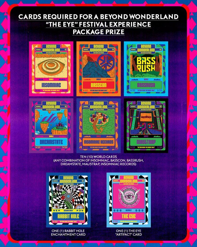 "Beyond Wonderland ""The Eye"" cards prize"